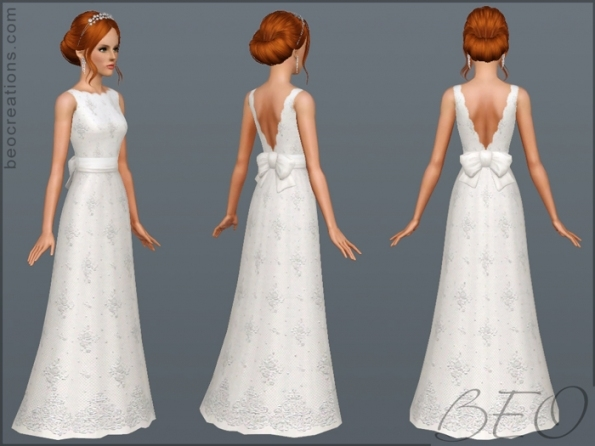 My Sims 3 Blog: New Wedding Dressesbeo Throughout New Sims 3 Wedding Hair Klp8