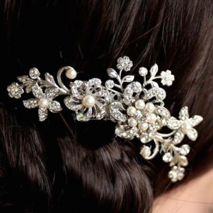 New Fashion Crystal Rhinestone Flower Hair Clip Comb Pin For Women Within New Wedding Hair Clips And Combs Ty4