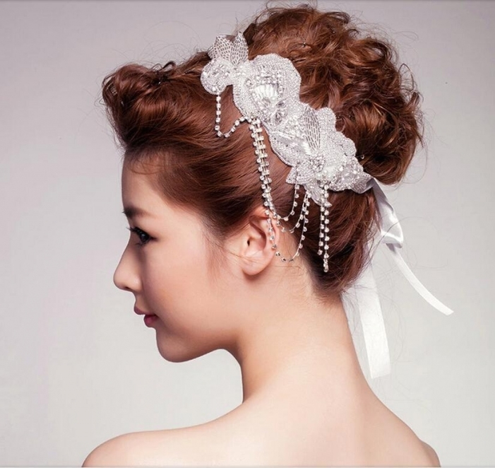 Newest Vintage Wedding Hair Accessories Handmade Bride Pearl Crystal With Regard To Vintage Wedding Hair Piece
