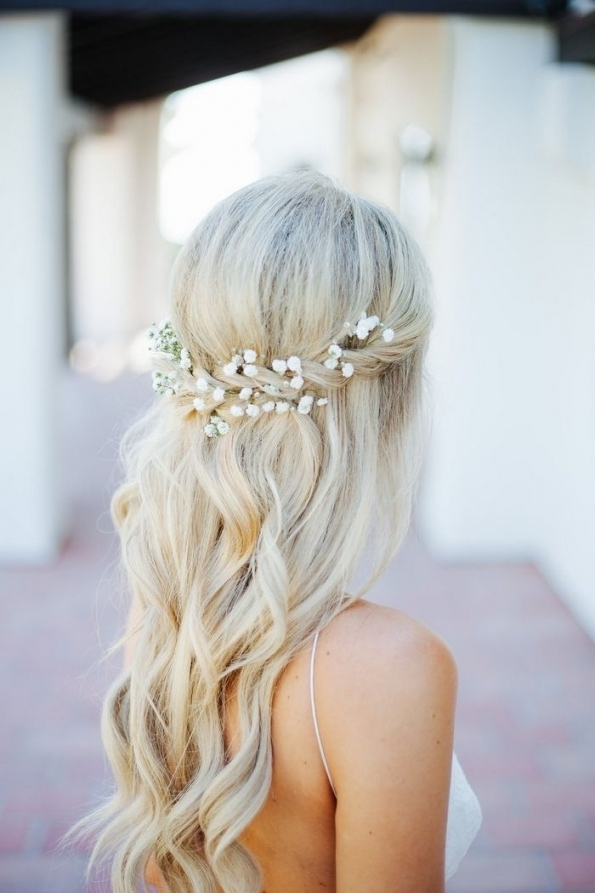 Our Favourite Bridal Hairstyles From Pinterest | News | Samantha Cusick Regarding Waterfall Braid Wedding Hair