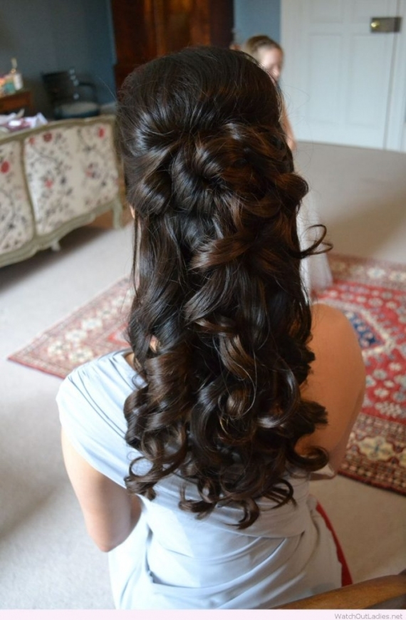 Pretty Long Hair Half Updos With Curls – Watch Out Ladies Regarding Awesome Half Updos For Long Hair Wedding Kc3