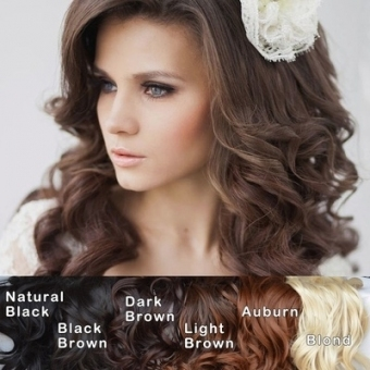 Qoo10   Sexy Wedding Hairstyle Curly Wave Clip In Hair Extensions With Regard To New Sexy Wedding Hair Klp8