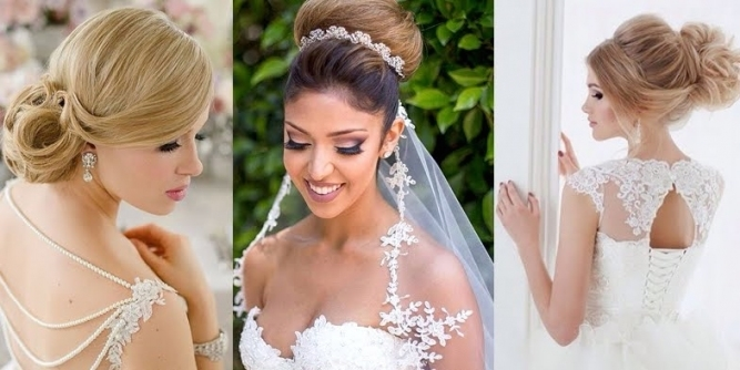 Romantic And Elegant Bridal Hairstyles! Pertaining To Beautiful Elegant Wedding Hair Df9