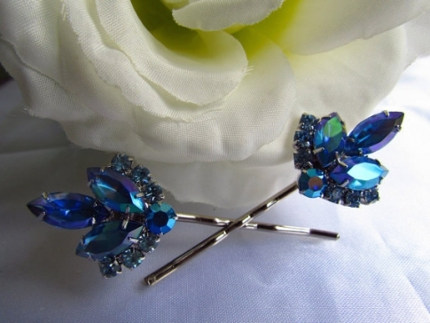 Lovely Blue Wedding Hair Accessories dt3