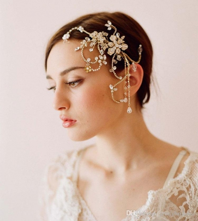 Sexy European Fashion Crystal Beaded Bridal Headpieces Comb Wedding Regarding Sexy Wedding Hair