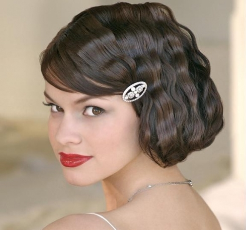 Short Wedding Hairstyle Ideas   22 Bridal Short Haircuts   Pretty Inside Lovely Short Hair Styles For Wedding Kc3