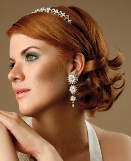 Shoulder Length Wedding Hairstyles   Medium Length Bridal Hairstyle Inside Wedding Hair For Medium Hair