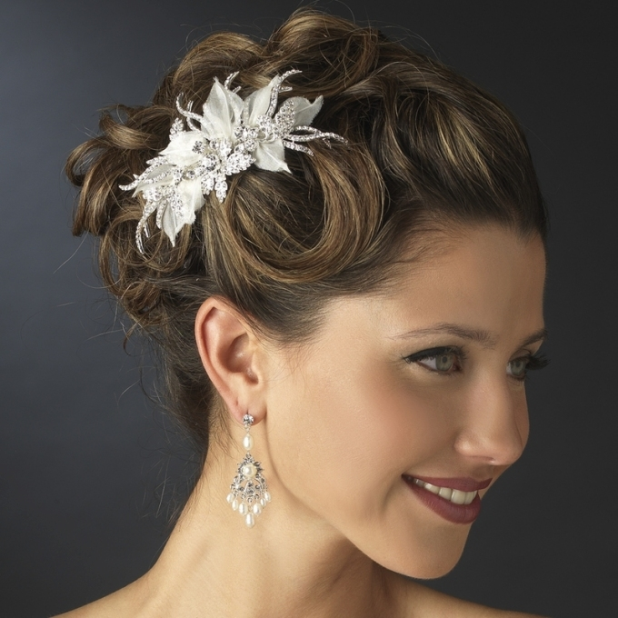 Lovely Ivory Wedding Hair Accessories fg8