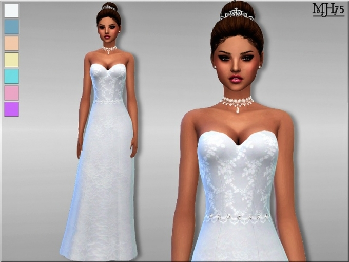 Sims 3 Wedding Dress (12 Photos)   Stylart Wedding Dress In Sims 3 Wedding Hair