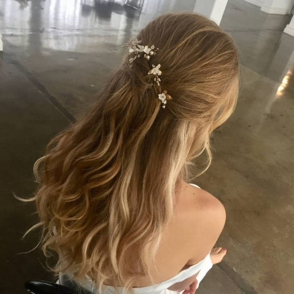 Soft Tendrils | Wedding Half Updo Styles We Are Coveting Right Now With Half Updos For Long Hair Wedding