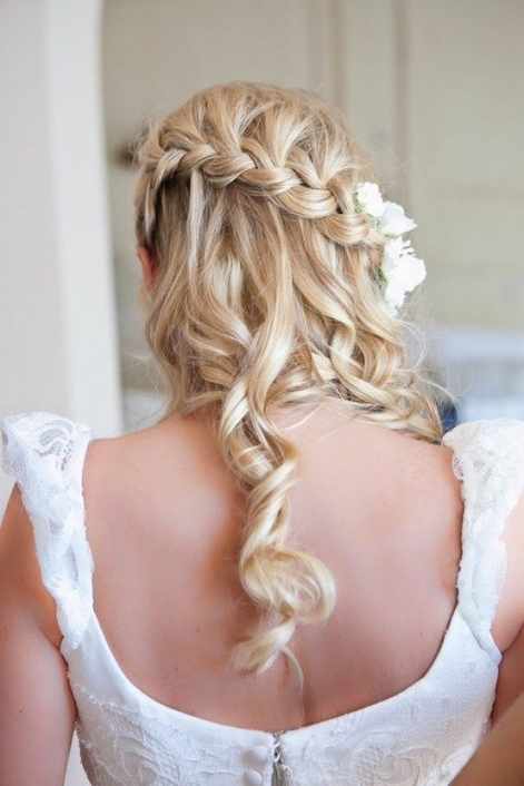 Stunning Wedding Hairstyles With Braids For Amazing Look In Your Big Pertaining To Waterfall Braid Wedding Hair