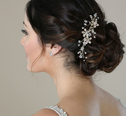 Sweetv Wedding Hair Comb Silver - Pearl Flower Bridal Clip regarding Wedding Hair Clips And Combs