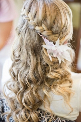 Lovely Waterfall Braid Wedding Hair fg8