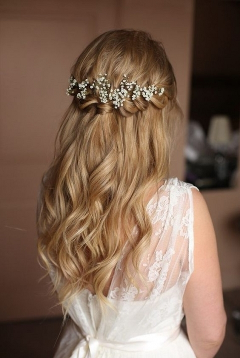 The Best Wedding Hairstyles For Thin Hair Inside Waterfall Braid Wedding Hair
