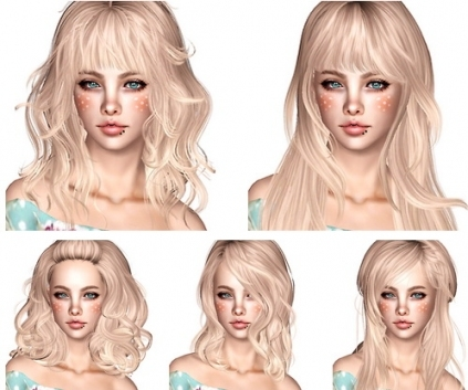 The Sims 3 Hairstyles For Men And Women   Free Downloads Intended For New Sims 3 Wedding Hair Klp8