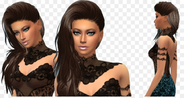 The Sims 4 Long Hair The Sims 3 Hair Coloring Bangs   The Sims 2 Mod Within New Sims 3 Wedding Hair Klp8