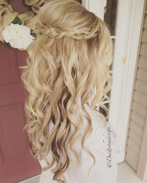 Top 8 Wedding Hairstyles For Bridal Veils Intended For Wedding Hair Half Up With Veil