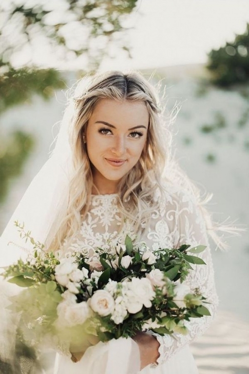 Top 8 Wedding Hairstyles For Bridal Veils Pertaining To Wedding Hair Half Up With Veil