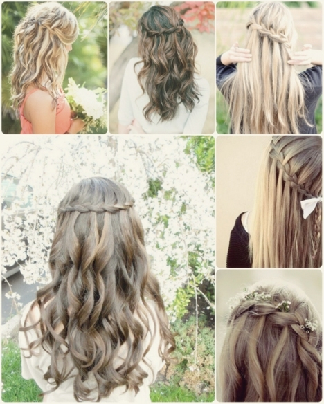 Trend Waterfall Braided Hair For Wedding By Clip In Wavy Human Hair With Regard To Lovely Waterfall Braid Wedding Hair Fg8