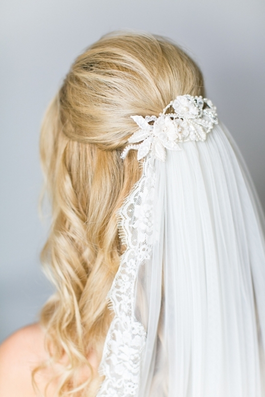 Understated Bridal Hair Get The Look With Jo Adams Hair Stylist intended for Wedding Hair Half Up With Veil