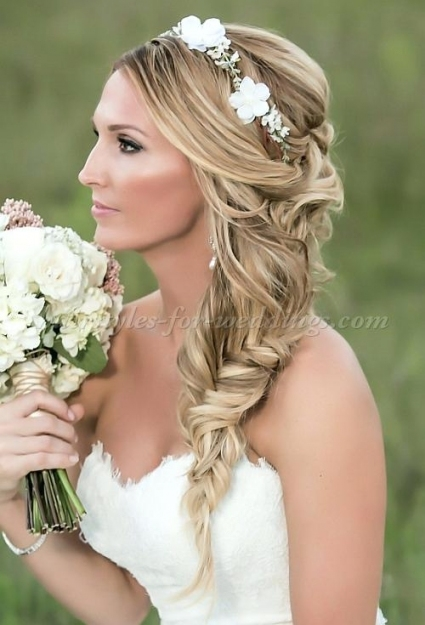 Unique Braided Bridal Hair Tutorial Waterfall Braid Wedding Hair Within Waterfall Braid Wedding Hair