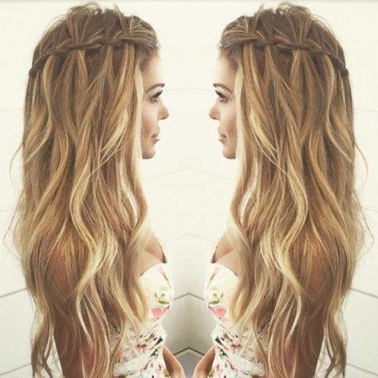 Waterfall Braid | Boho | Pinterest | Hair, Hair Styles And Plaits Regarding Waterfall Braid Wedding Hair