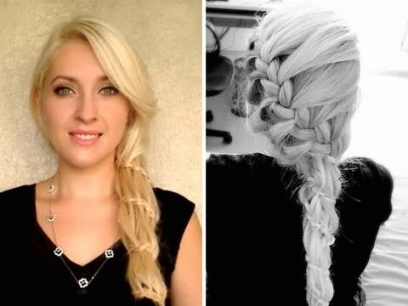 Waterfall Braid Tutorial Prom Wedding Hairstyles For Long Hair Pertaining To Lovely Waterfall Braid Wedding Hair Fg8