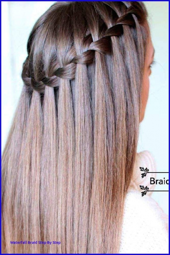 Waterfall Braid Wedding Hair Waterfall Braid Stepstep   Aabadv Within Lovely Waterfall Braid Wedding Hair Fg8