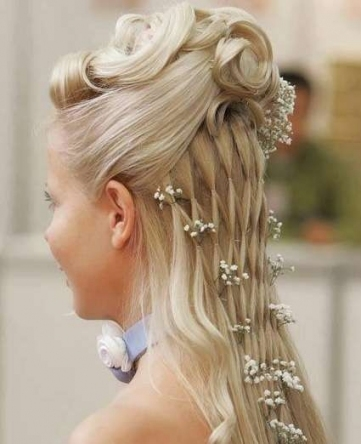 Waterfall Braid Wedding Hairstyle For Long Hair Pertaining To Lovely Waterfall Braid Wedding Hair Fg8
