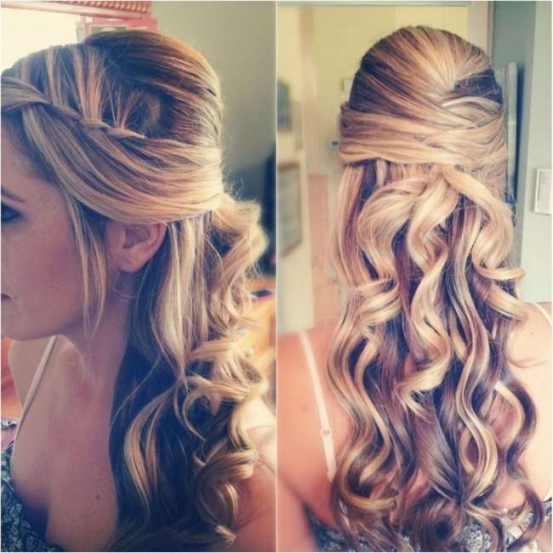 Waterfall Braid Wedding Hairstyle For Long Hair Throughout Lovely Waterfall Braid Wedding Hair Fg8