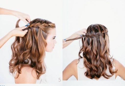 Waterfall Braid Wedding Hairstyles For Long Hair  .. | Neuefrisur Within Waterfall Braid Wedding Hair