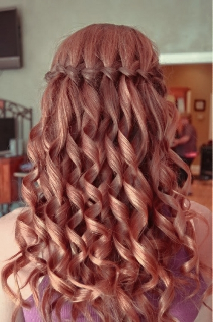 Waterfall Braids For The Bride | Easy Weddings Uk Pertaining To Waterfall Braid Wedding Hair