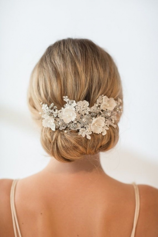 Wedding Accessories 20 Charming Bridal Headpieces To Match With Your Regarding Beautiful Elegant Wedding Hair Df9