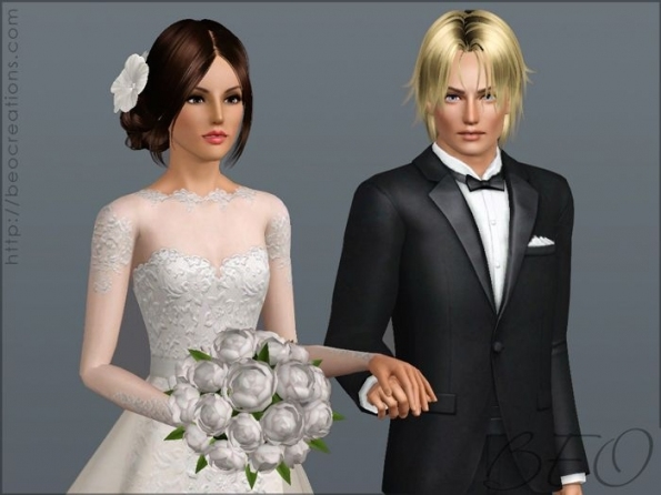 Wedding Bouquetbeo *pay - Sims 3 Downloads Cc Caboodle | Sims 3 regarding New Sims 3 Wedding Hair klp8