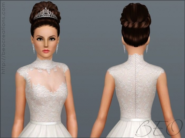 Wedding Dress 27Beo   Sims 3 Downloads Cc Caboodle | Sims 3 With Regard To Sims 3 Wedding Hair
