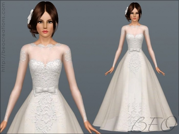Wedding Dress 28 For Sims 3Beo (1) | Sims 3 Cc | Pinterest Regarding Sims 3 Wedding Hair