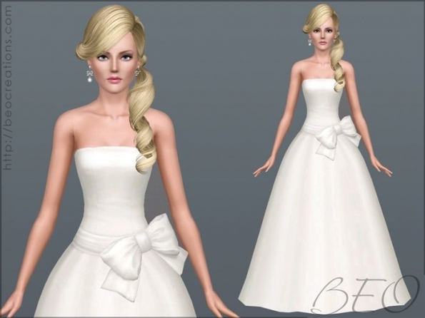 Wedding Dress 31Beo   Sims 3 Downloads Cc Caboodle | Sims 3 With Sims 3 Wedding Hair