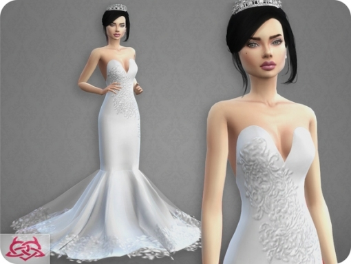 Wedding Dress 8 Recolor 3Colores Urbanos At Tsr » Sims 4 Updates Pertaining To New Sims 3 Wedding Hair Klp8