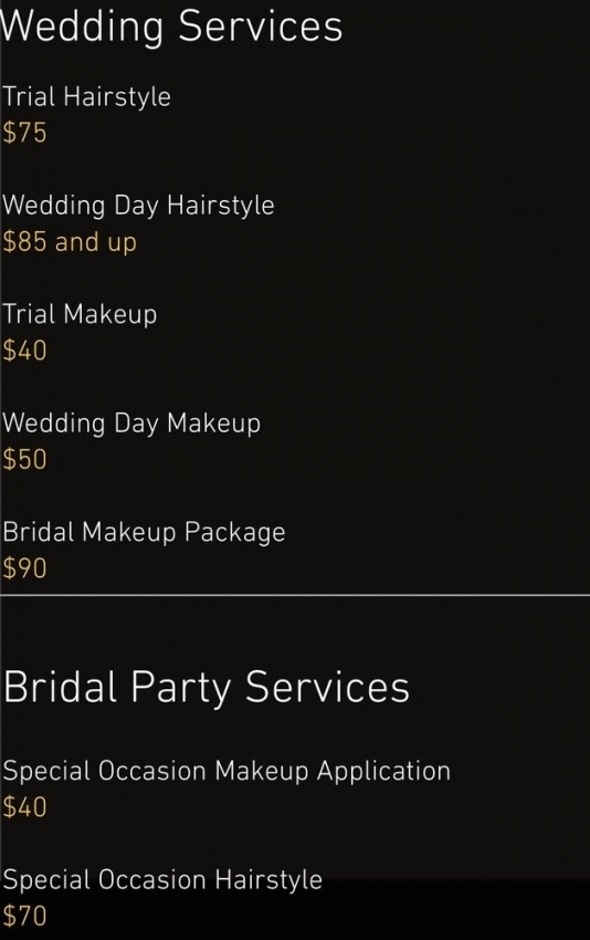 Wedding Hair And Makeup Prices   Yelp With Wedding Hair And Makeup Prices