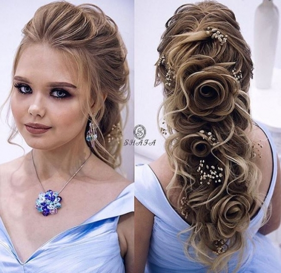 Wedding Hairstyles For Long Hair   Evesteps Pertaining To Inspirational Wedding Hair Pics Fg8