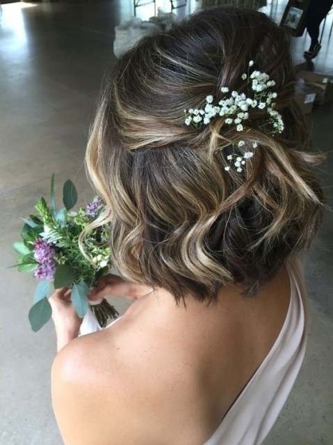 Wedding Hairstyles For Short Hair | Stella York + Weddingwire With Regard To Short Hair Styles For Wedding