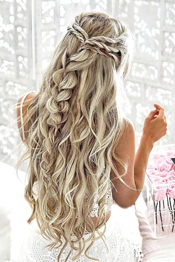Awesome Half Up Wedding Hairstyles For Long Hair klp8