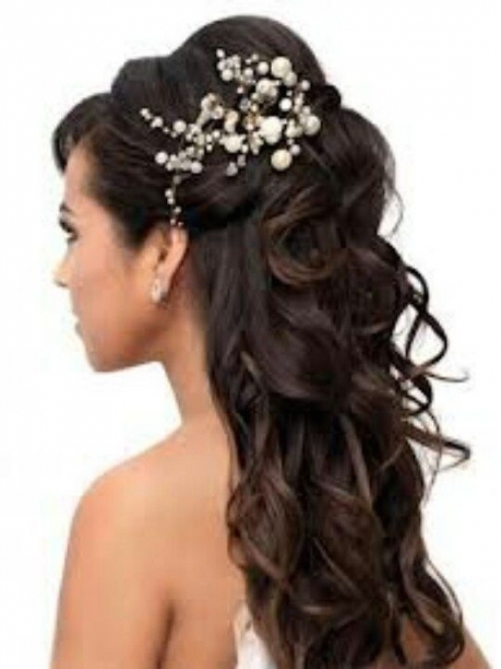 Wedding Half Updos | Cute Curls In Half Updo | Wedding | Tatianna's Inside Awesome Half Updos For Long Hair Wedding Kc3