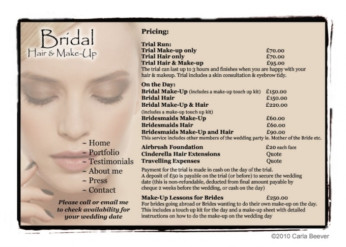 Wedding Make-Up And Hair Prices within Beautiful Wedding Hair And Makeup Prices klp8