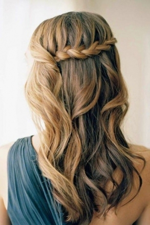 Wedding Online   Hair   Hair Tutorial: The Waterfall Braid Throughout Lovely Waterfall Braid Wedding Hair Fg8
