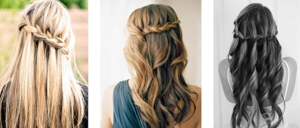 Wedding Online   Hair   Hair Tutorial: The Waterfall Braid With Regard To Lovely Waterfall Braid Wedding Hair Fg8