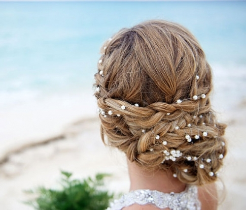 Wedding Pearl Head Chain, Bridal Headband, Pearl Headband, Wedding With Regard To Wedding Hair Pics