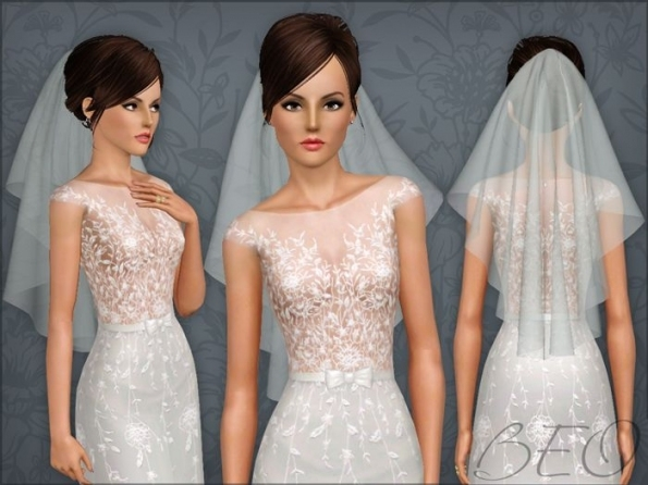 Wedding Veil 04 For The Sims 3Beo | The Sims 3: Bridal / Wedding Within New Sims 3 Wedding Hair Klp8