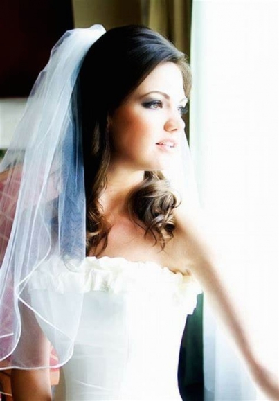 Wedding Veils With Tiara With Hair Down. Wedding Hair Half Up Half Down With Regard To Wedding Hair Half Up With Veil