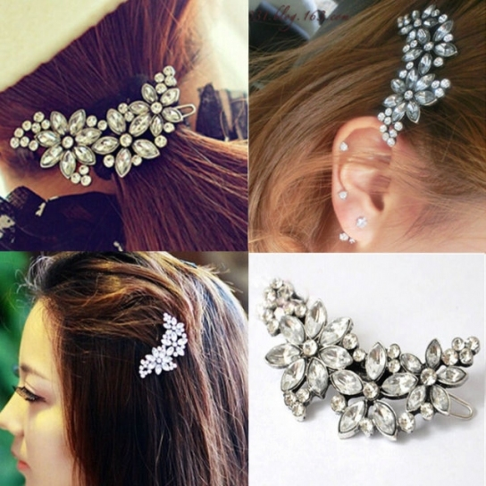 Women Bridal Wedding Party Flower Crystal Rhinestone Headband Hair For New Wedding Hair Clips And Combs Ty4